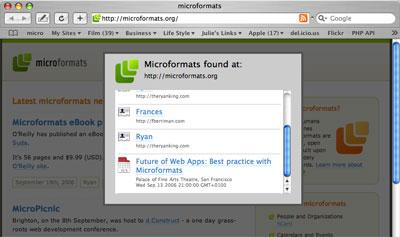 Microformats Bookmarklet