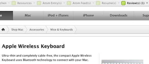 Apple Store nutzt hReview