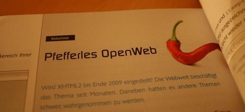 Kolumne: Pfefferles OpenWeb